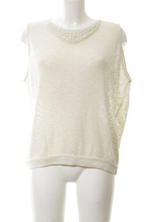 Zara Trafaluc Haut tricotés blanc cassé élégant