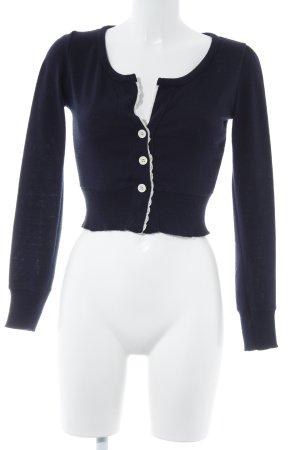 Zara Trafaluc Strickweste dunkelblau Elegant