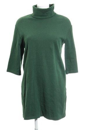 Zara Trafaluc Sweat Dress forest green casual look