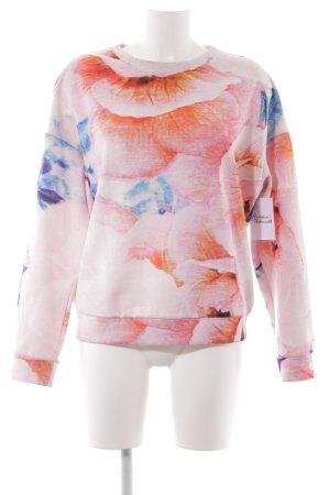 Zara Trafaluc Suéter estampado floral look casual