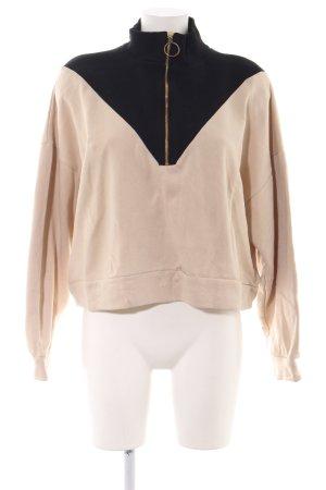 Zara Trafaluc Sweatshirt nude-schwarz Casual-Look