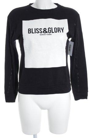 Zara Trafaluc Sweatshirt schwarz-weiß Schriftzug gedruckt Casual-Look