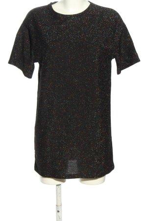 Zara Trafaluc T-Shirt schwarz meliert Casual-Look