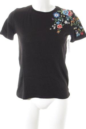 Zara Trafaluc T-Shirt Blumenmuster Country-Look