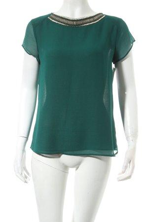 Zara Trafaluc T-Shirt dunkelgrün Street-Fashion-Look