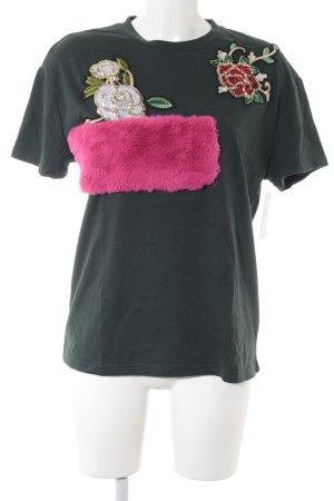 Zara Trafaluc T-Shirt mehrfarbig Casual-Look