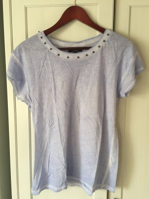 ZARA Trafaluc, T-Shirt mit Nieten am Kragen, Gr. M