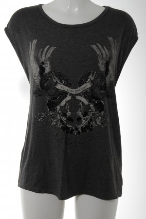 Zara Trafaluc T-Shirt Motivdruck Casual-Look