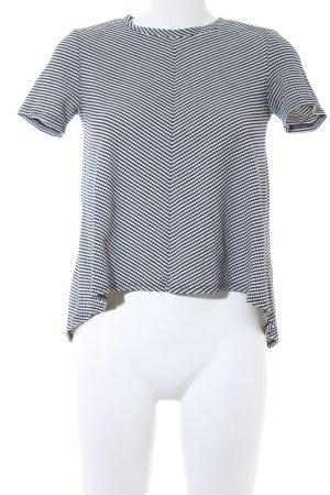 Zara Trafaluc T-Shirt schwarz-weiß abstraktes Muster Casual-Look