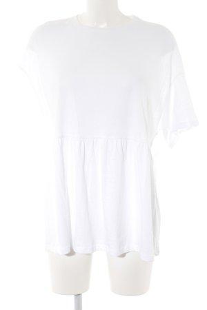 Zara Trafaluc T-Shirt weiß Casual-Look