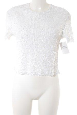 Zara Trafaluc T-Shirt weiß Party-Look