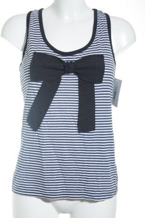 Zara Trafaluc Tanktop weiß-blau Streifenmuster Casual-Look