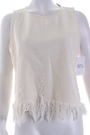 Zara Trafaluc Top creme Destroy-Optik