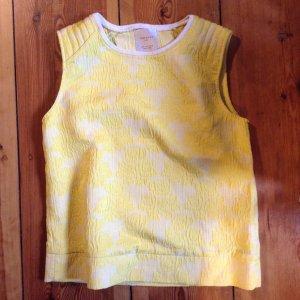Zara-Trafaluc-Top in sonnigem Gelb mit Rosenmuster
