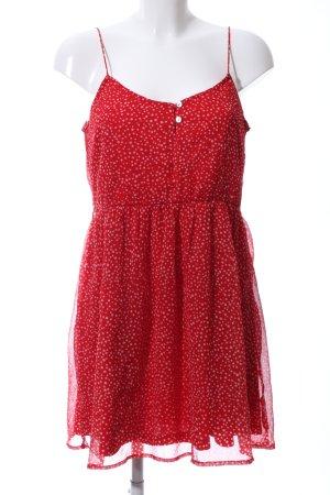 Zara Trafaluc Pinafore dress red spot pattern casual look