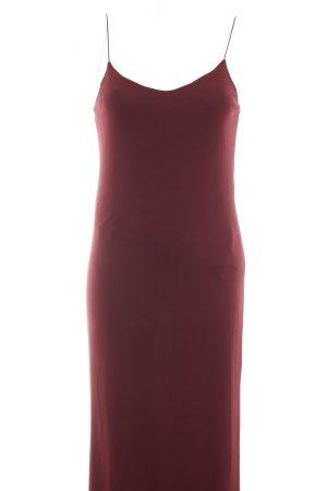 Zara Trafaluc Trägerkleid bordeauxrot schlichter Stil