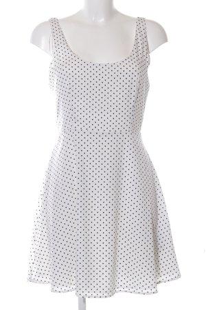 Zara Trafaluc Trägerkleid weiß-schwarz Punktemuster Casual-Look