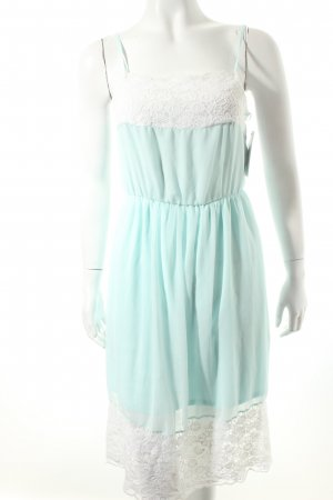 Zara Trafaluc Trägerkleid mint-weiß Gypsy-Look