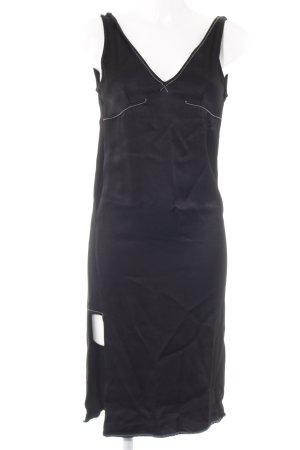 Zara Trafaluc Trägerkleid schwarz Glanz-Optik