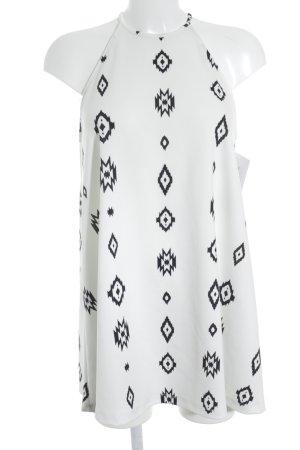 Zara Trafaluc Trägerkleid schwarz-weiß abstraktes Muster Casual-Look