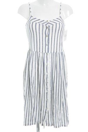Zara Trafaluc Trägerkleid weiß-stahlblau Streifenmuster Beach-Look
