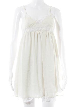 Zara Trafaluc Trägerkleid wollweiß-weiß Elegant