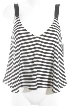 Zara Trafaluc Trägertop schwarz-weiß Streifenmuster Casual-Look