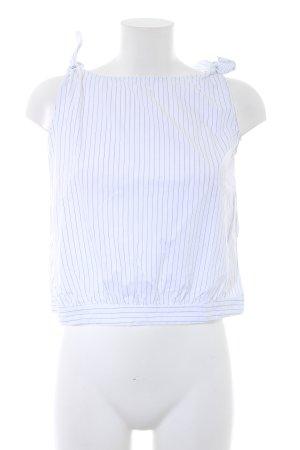 Zara Trafaluc Trägertop weiß-schwarz Nadelstreifen Casual-Look