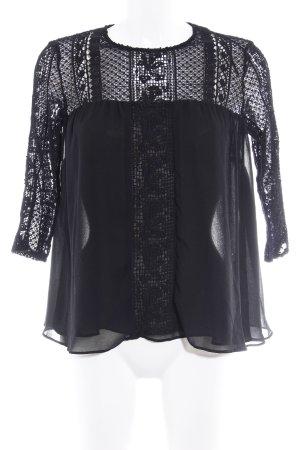 Zara Trafaluc Transparenz-Bluse schwarz Casual-Look