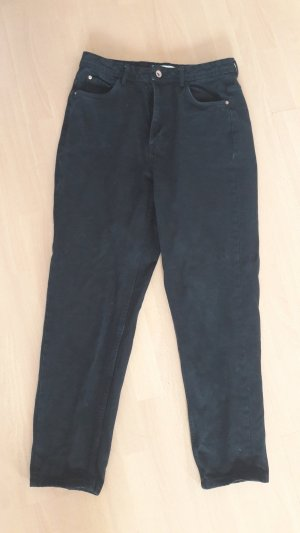 Zara Trafaluc Trf Jeans Black Denim Momjeans Highwaist