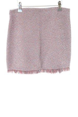 Zara Trafaluc Tweed rok roze casual uitstraling