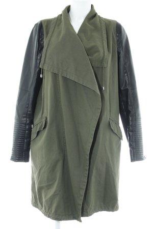 Zara Trafaluc Übergangsjacke dunkelgrün-schwarz Casual-Look