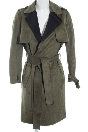 Zara Trafaluc Übergangsmantel grasgrün-schwarz minimalistischer Stil