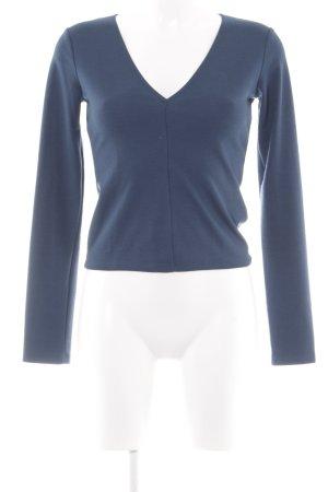 Zara Trafaluc V-Ausschnitt-Pullover dunkelblau Casual-Look