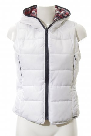 Zara Trafaluc Reversible Vest white quilting pattern casual look