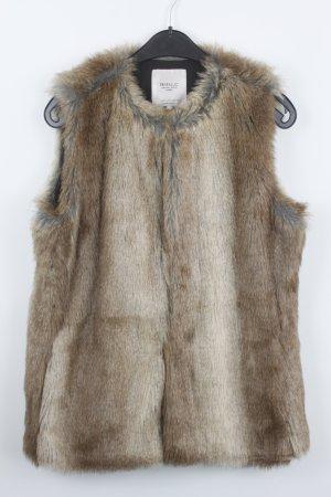 Zara Trafaluc Smanicato di pelliccia marrone-grigio-marrone