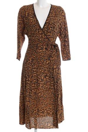 Zara Trafaluc Vestido cruzado estampado de leopardo elegante