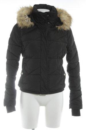 Zara Trafaluc Veste d'hiver noir-crème motif de courtepointe