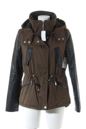 Zara Trafaluc Winterjacke schwarz-grüngrau Casual-Look