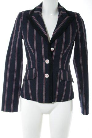 Zara Trafaluc Woll-Blazer lila-pink Streifenmuster klassischer Stil