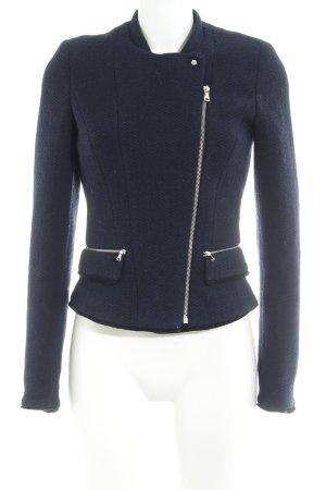 Zara Trafaluc Blazer en laine bleu foncé style d'affaires