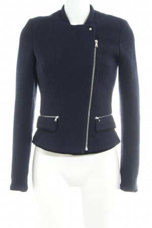Zara Trafaluc Woll-Blazer dunkelblau Business-Look