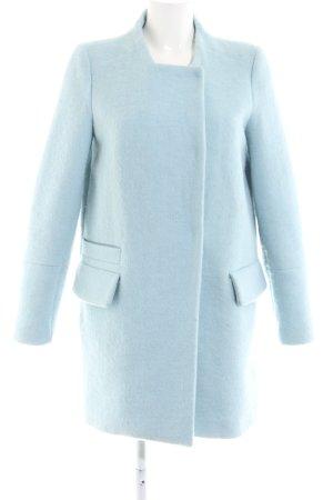 Zara Trafaluc Wollmantel blau Business-Look