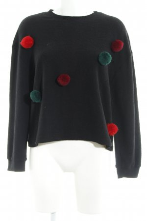 Zara Trafaluc Jersey de lana negro look casual