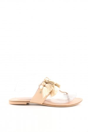 Zara Trafaluc Toe-Post sandals nude-gold-colored casual look