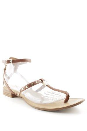 Zara Trafaluc Sandalo toe-post marrone-color cammello stile da moda di strada