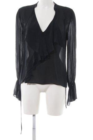 Zara Transparent Blouse black elegant