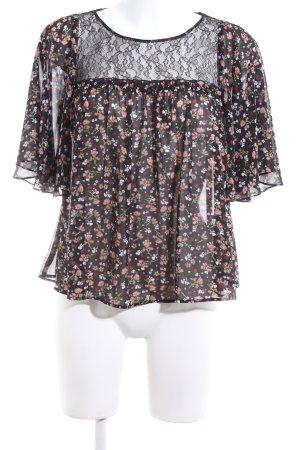 Zara Blusa trasparente motivo floreale elegante