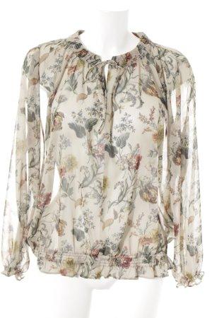 Zara Blouse transparente motif floral style décontracté