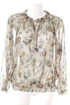 Zara Transparenz-Bluse florales Muster Casual-Look